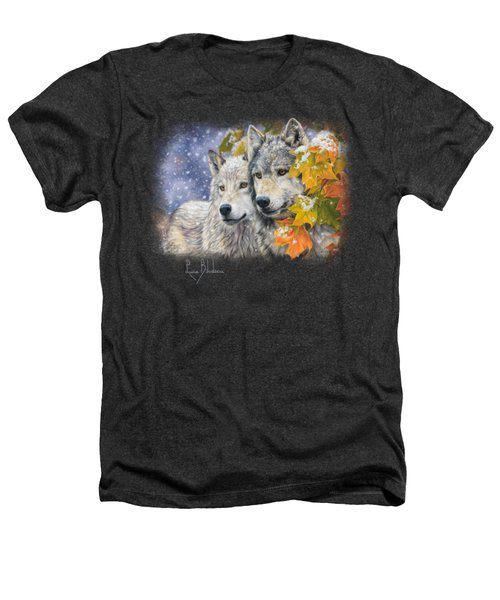 Early Snowfall Heathers T-Shirt by Lucie Bilodeau