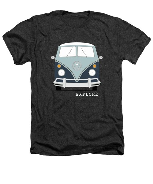 Vw Bus Blue Heathers T-Shirt by Mark Rogan