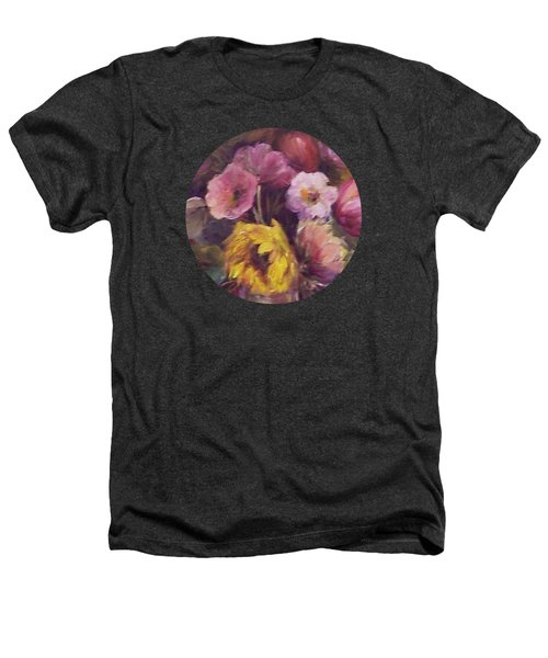 Abundance- Floral Painting Heathers T-Shirt by Mary Wolf
