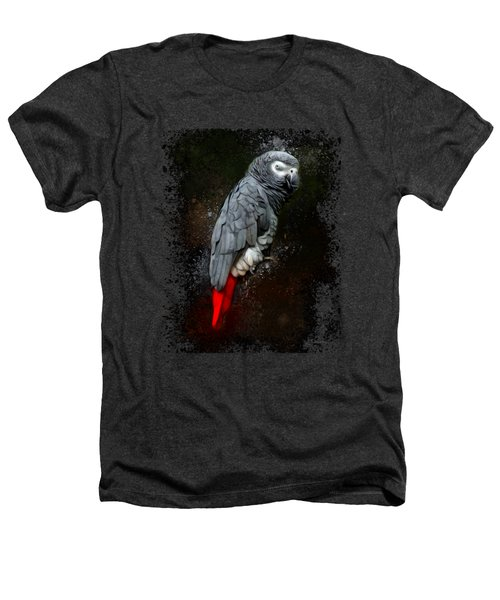 African Grey Parrot  Heathers T-Shirt