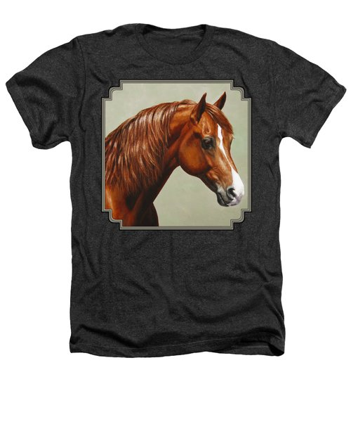 Morgan Horse - Flame Heathers T-Shirt by Crista Forest