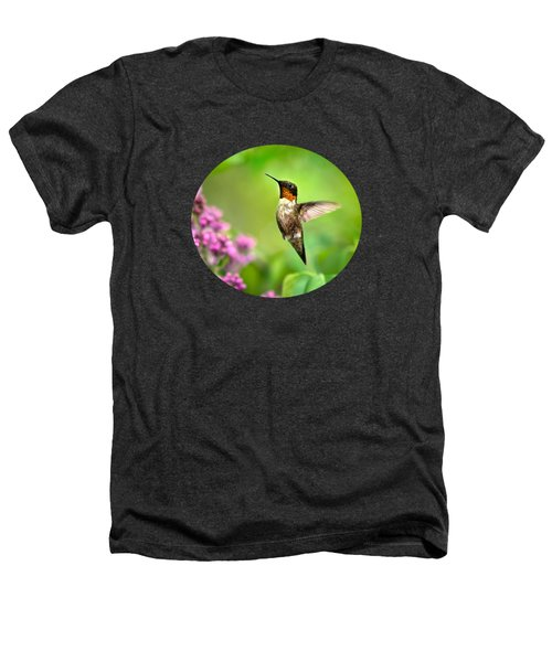 Welcome Home Hummingbird Heathers T-Shirt by Christina Rollo