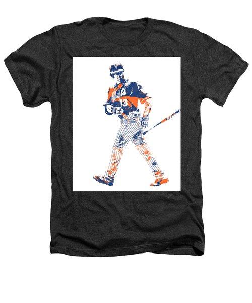 Asdrubal Cabrera New York Mets Pixel Art 1 Heathers T-Shirt
