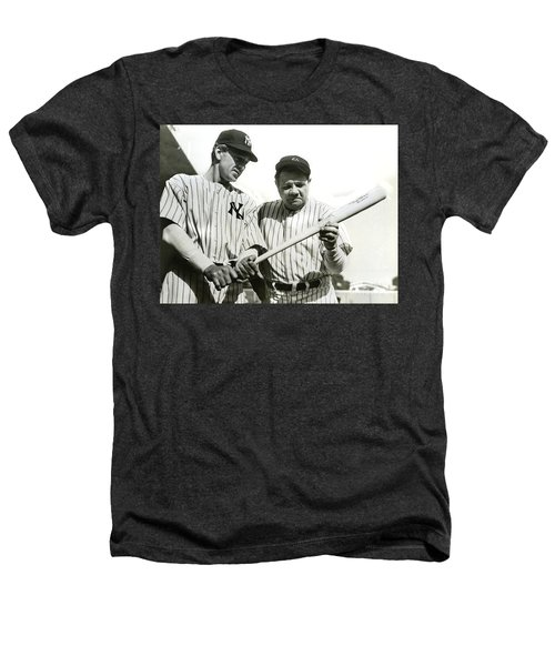 Babe Ruth And Lou Gehrig Heathers T-Shirt by Jon Neidert