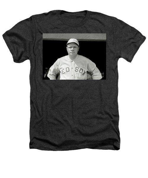 Babe Ruth Red Sox Heathers T-Shirt by Jon Neidert