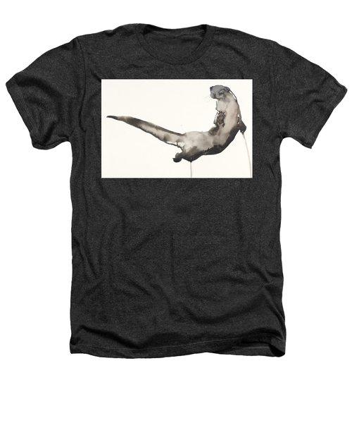 Back Awash   Otter Heathers T-Shirt by Mark Adlington