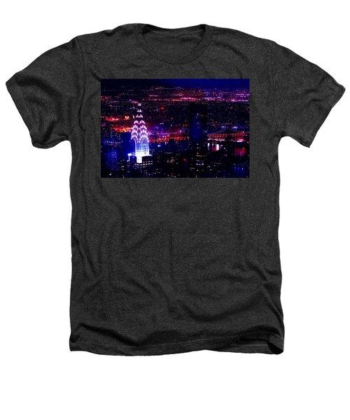Beautiful Manhattan Skyline Heathers T-Shirt by Az Jackson