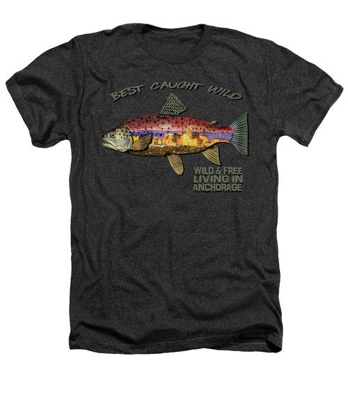 Fishing - Best Caught Wild-on Dark Heathers T-Shirt by Elaine Ossipov
