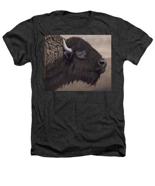 Bison Heathers T-Shirt by Jacqueline Barden