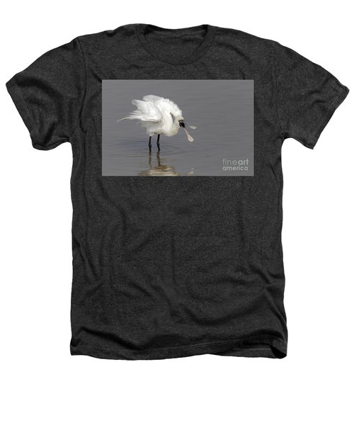 Black-faced Spoonbill Heathers T-Shirt by Martin Hale/FLPA