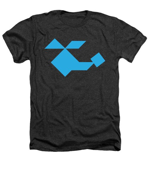 Blue Helicopter Tangram Heathers T-Shirt