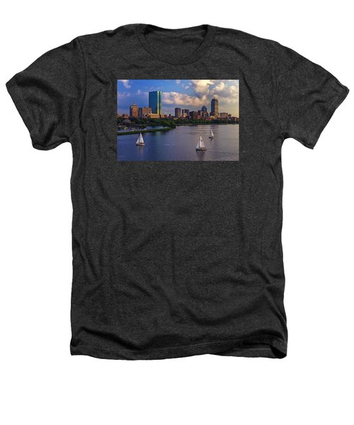 Boston Skyline Heathers T-Shirt by Rick Berk