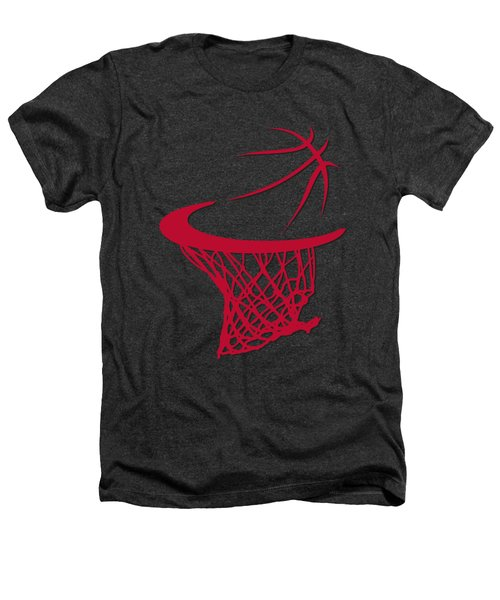 Bulls Basketball Hoop Heathers T-Shirt by Joe Hamilton