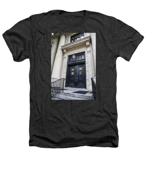 Carnegie Building Penn State  Heathers T-Shirt by John McGraw
