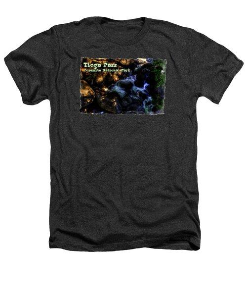 Cascade Along The Tioga Pass Yosemite Heathers T-Shirt by Roger Passman