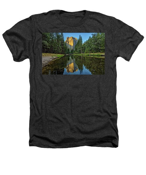 Cathedral Rocks Morning Heathers T-Shirt by Peter Tellone