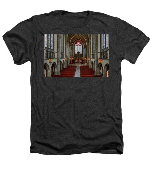 Chicago Rockefeller Chapel Heathers T-Shirt by Mike Burgquist
