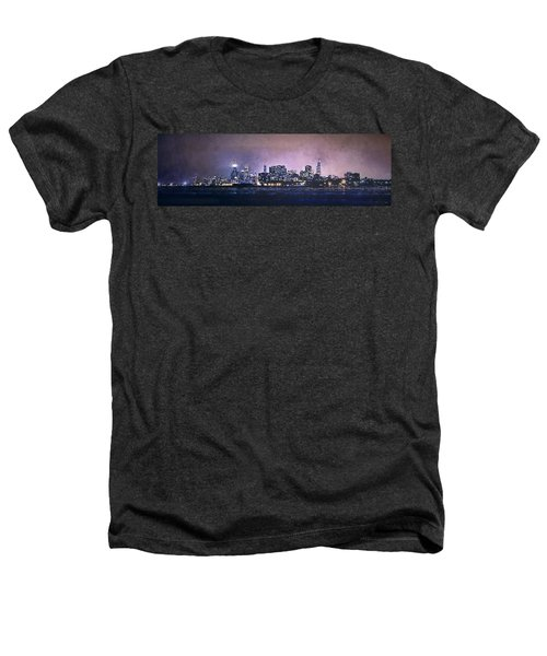 Chicago Skyline From Evanston Heathers T-Shirt by Scott Norris