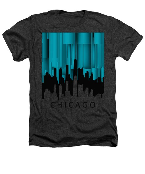 Chicago Turqoise Vertical Heathers T-Shirt