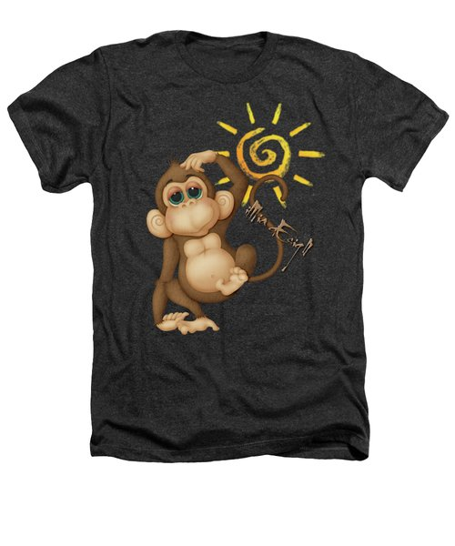 Chimpanzees, Mother And Baby Heathers T-Shirt by Maria Astedt
