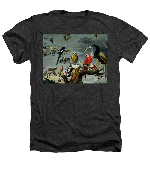 Concert Of Birds Heathers T-Shirt by Frans Snijders