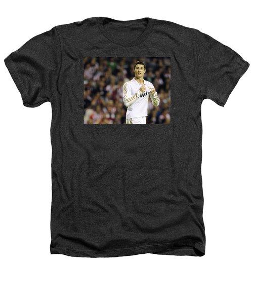 Cristiano Ronaldo 4 Heathers T-Shirt by Rafa Rivas
