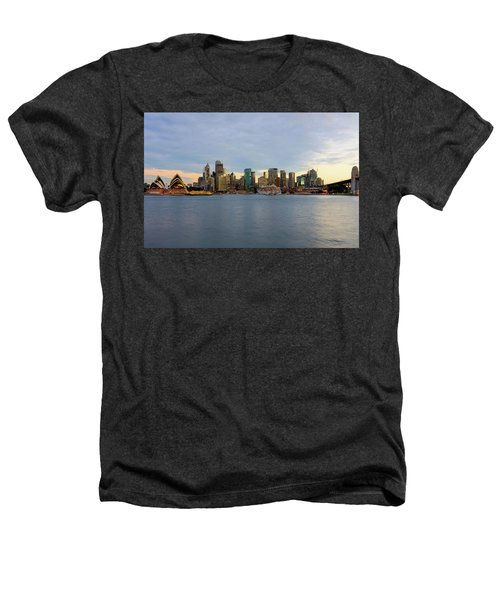 Cruiseship Sunset Heathers T-Shirt by Petar Belobrajdic