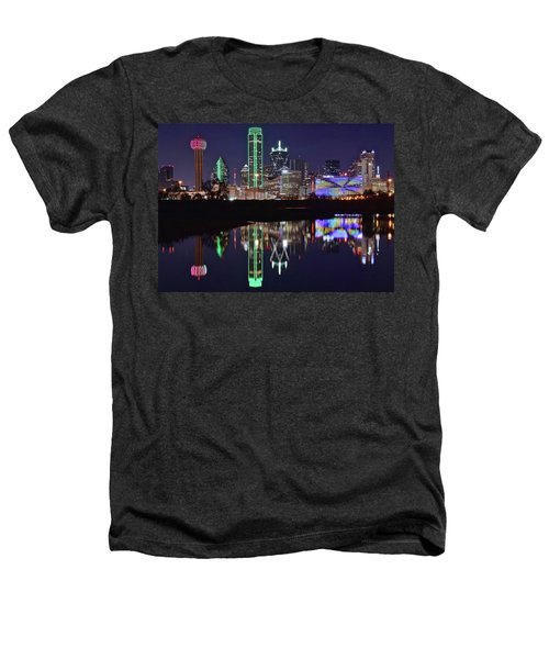 Dallas Reflecting At Night Heathers T-Shirt by Frozen in Time Fine Art Photography