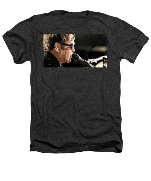 Elton John At The Mic Heathers T-Shirt by Elaine Plesser