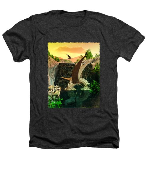 Fantasy Worlds 3d Dinosaur 2 Heathers T-Shirt by Sharon and Renee Lozen