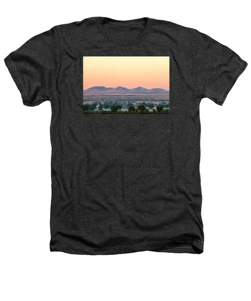 Foggy Harlem Bottom Heathers T-Shirt by Todd Klassy