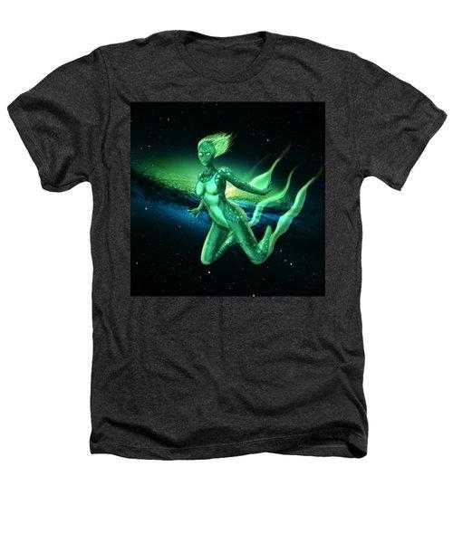 Galaxy Mermaid Heathers T-Shirt by Rene Lopez