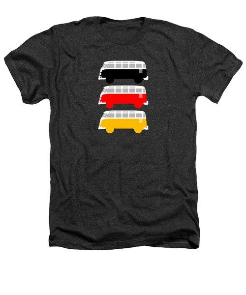 German Icon - Vw T1 Samba Heathers T-Shirt by Mark Rogan