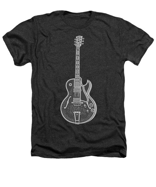 Gibson Es-175 Electric Guitar Tee Heathers T-Shirt by Edward Fielding