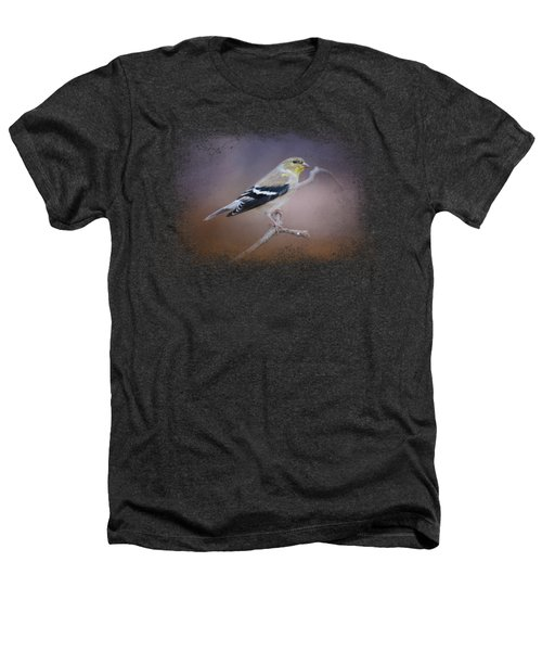 Goldfinch In The Light Heathers T-Shirt by Jai Johnson