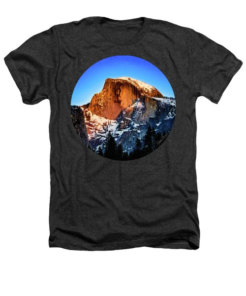 Half Dome Aglow Heathers T-Shirt by Adam Morsa
