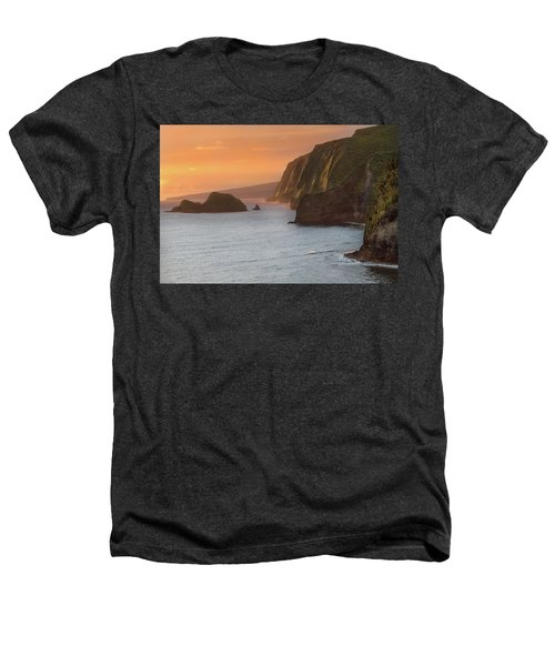 Hawaii Sunrise At The Pololu Valley Lookout 2 Heathers T-Shirt by Larry Marshall