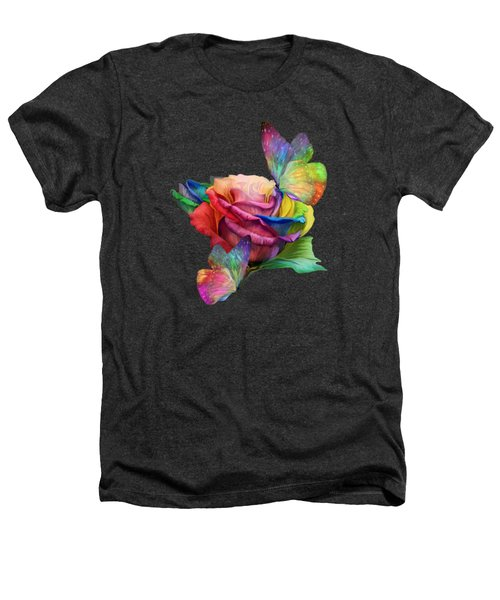 Healing Rose Heathers T-Shirt by Carol Cavalaris