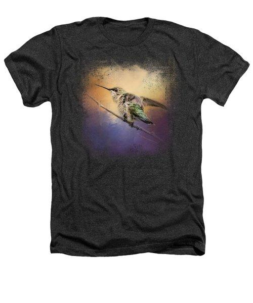 Hummingbird At Sunset Heathers T-Shirt