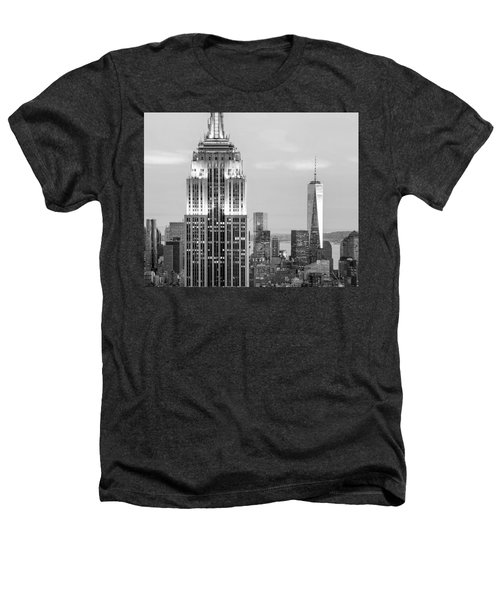 Iconic Skyscrapers Heathers T-Shirt by Az Jackson