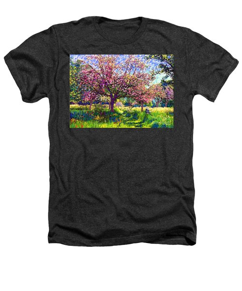 In Love With Spring, Blossom Trees Heathers T-Shirt by Jane Small
