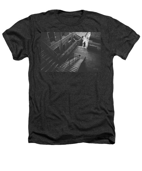 In Pursuit Of The Devil On The Stairs Heathers T-Shirt by Joseph Westrupp