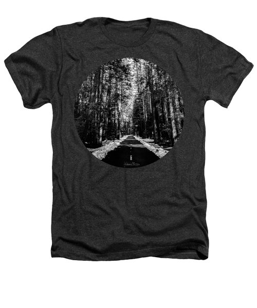 Into The Woods, Black And White Heathers T-Shirt by Adam Morsa
