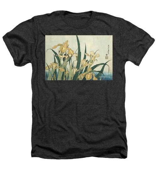 Irises With A Grasshopper Heathers T-Shirt