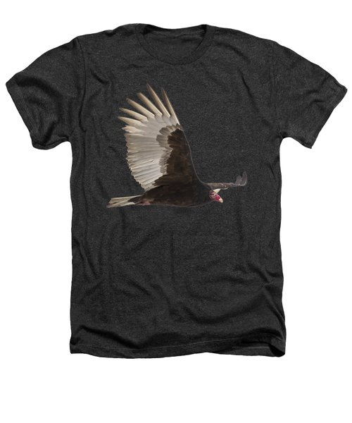 Isolated Turkey Vulture 2014-1 Heathers T-Shirt by Thomas Young