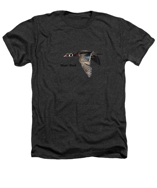 Isolated Wood Duck 2017-1 Heathers T-Shirt by Thomas Young