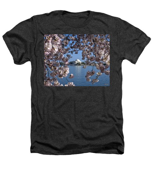 Jefferson Memorial On The Tidal Basin Ds051 Heathers T-Shirt by Gerry Gantt