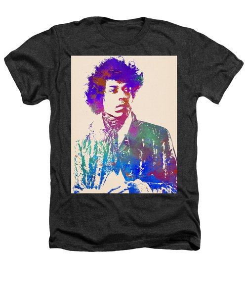 Jimi Hendrix Art Print Heathers T-Shirt