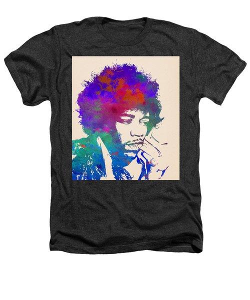 Jimi Hendrix Poster Heathers T-Shirt