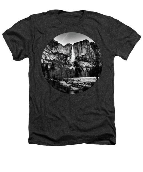 King Of Waterfalls, Black And White Heathers T-Shirt by Adam Morsa